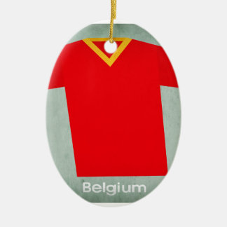 Retro Football Jersey Belgium Christmas Ornament
