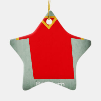 Retro Football Jersey Belgium Christmas Ornament