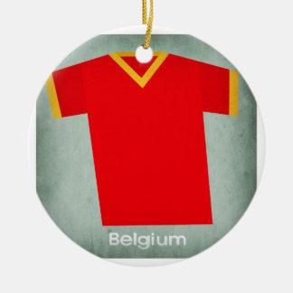 Retro Football Jersey Belgium Round Ceramic Decoration
