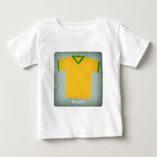 Retro Football Jersey Brazil Baby T-Shirt