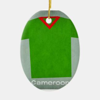 Retro Football Jersey Cameroon Christmas Ornament