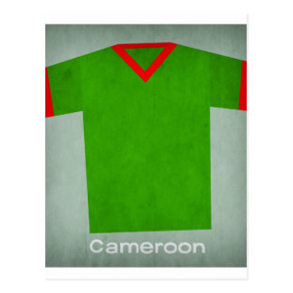 Retro Football Jersey Cameroon Postcard