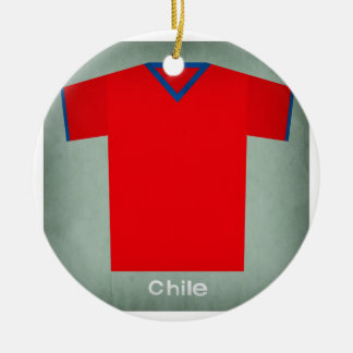 Retro Football Jersey Chile Christmas Ornament