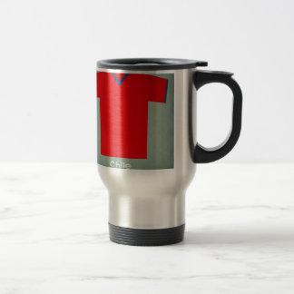 Retro Football Jersey Chile Travel Mug