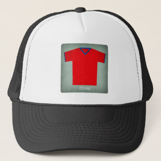 Retro Football Jersey Chile Trucker Hat