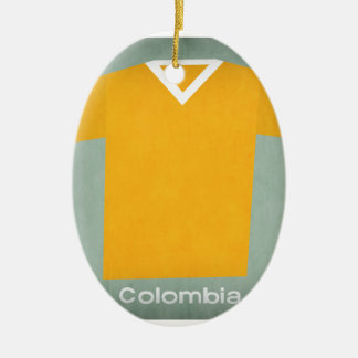 Retro Football Jersey Colombia Ceramic Oval Decoration