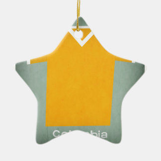 Retro Football Jersey Colombia Ceramic Star Decoration