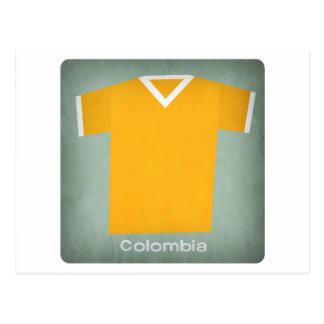 Retro Football Jersey Colombia Postcard
