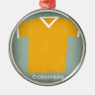 Retro Football Jersey Colombia Silver-Colored Round Decoration