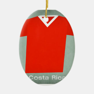 Retro Football Jersey Costa Rica Christmas Ornament