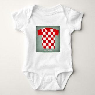 Retro Football Jersey Croatia Baby Bodysuit