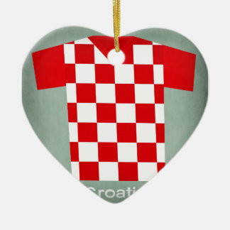 Retro Football Jersey Croatia Christmas Ornament