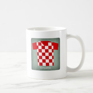 Retro Football Jersey Croatia Coffee Mug
