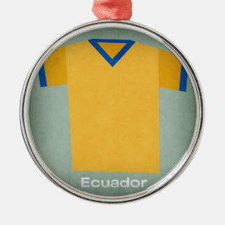 Retro Football Jersey Ecuador Christmas Ornament