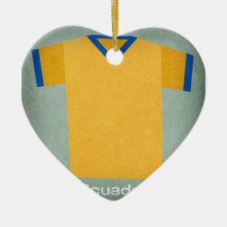 Retro Football Jersey Ecuador Christmas Ornament