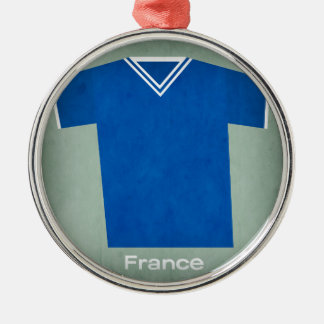 Retro Football Jersey France, Christmas Ornament