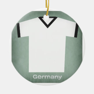 Retro Football Jersey Germany Christmas Ornament
