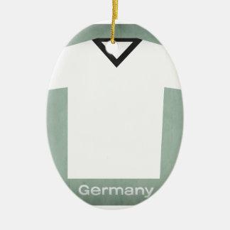 Retro Football Jersey Germany Christmas Ornament