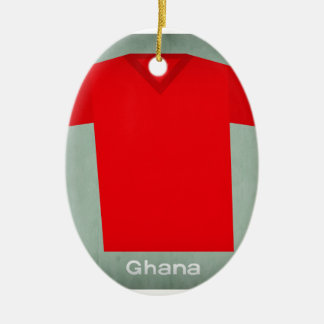 Retro Football Jersey Ghana Christmas Ornament