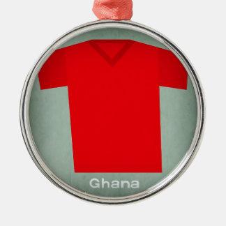 Retro Football Jersey Ghana Christmas Ornament