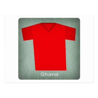 Retro Football Jersey Ghana Postcard