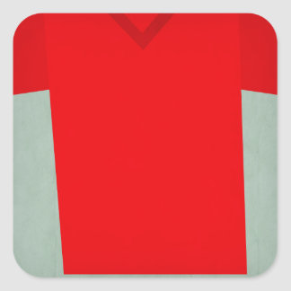 Retro Football Jersey Ghana Square Sticker