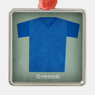 Retro Football Jersey Greece Christmas Ornament