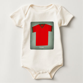 Retro Football Jersey Iran Baby Bodysuit