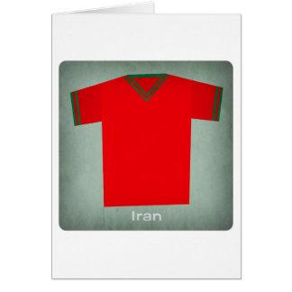 Retro Football Jersey Iran Card