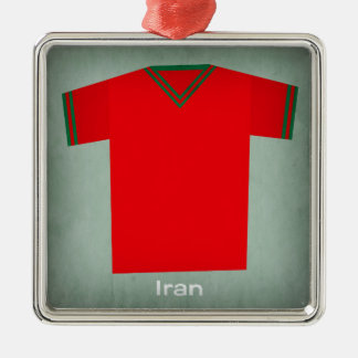 Retro Football Jersey Iran Christmas Ornament
