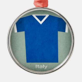 Retro Football Jersey Italy Christmas Ornament