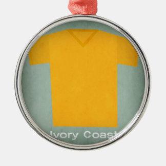 Retro Football Jersey Ivory Coast Christmas Ornament