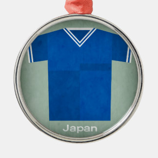 Retro Football Jersey Japan Silver-Colored Round Decoration