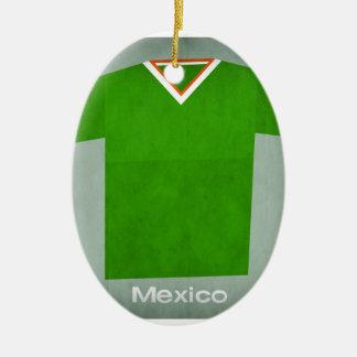 Retro Football Jersey Mexico Christmas Ornament