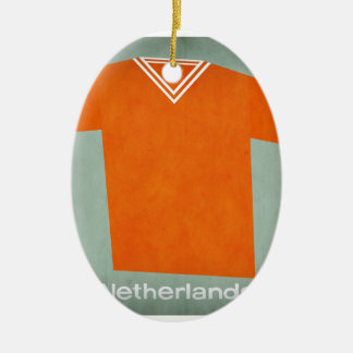 Retro Football Jersey Netherlands Christmas Ornament