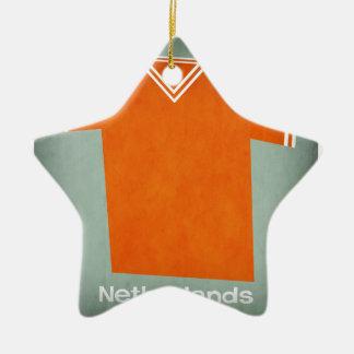 Retro Football Jersey Netherlands Christmas Ornament
