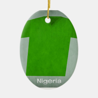 Retro Football Jersey Nigeria Christmas Ornament