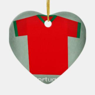 Retro Football Jersey Portugal Christmas Ornament