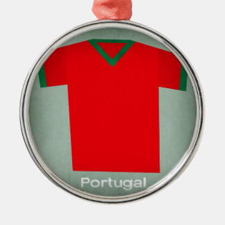 Retro Football Jersey Portugal Christmas Ornament