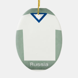 Retro Football Jersey Russia Christmas Ornament