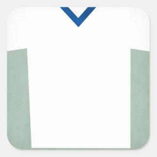 Retro Football Jersey Russia Square Sticker