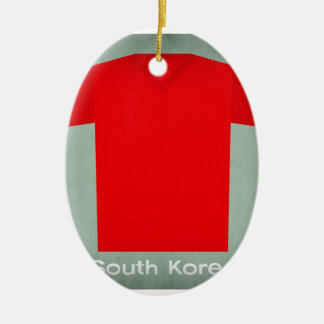 Retro Football Jersey South Korea Christmas Ornament