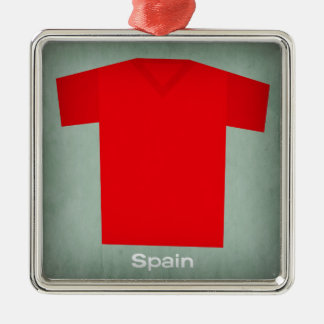 Retro Football Jersey Spain Christmas Ornament