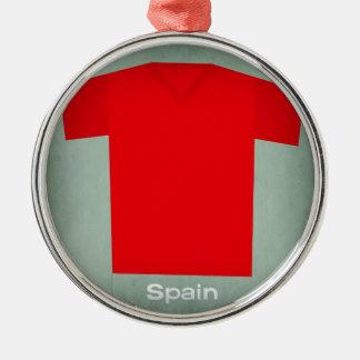 Retro Football Jersey Spain Christmas Ornament