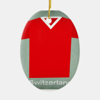 Retro Football Jersey Switzerland Christmas Ornament