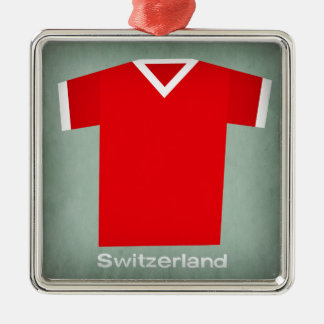 Retro Football Jersey Switzerland Christmas Ornament