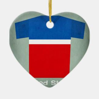 Retro Football Jersey United States Christmas Ornament