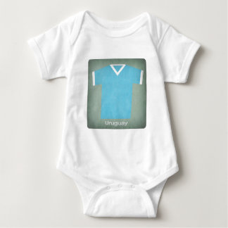Retro Football Jersey Uruguay Baby Bodysuit