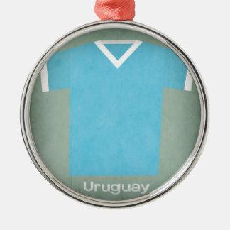 Retro Football Jersey Uruguay Christmas Ornament