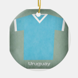 Retro Football Jersey Uruguay Christmas Ornament